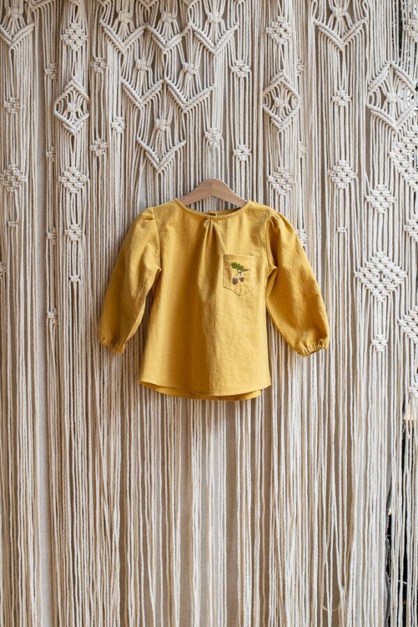 zolta-tunika-dla-dziewczynki-bluzeczki-niemowlece-na-jesien-haftowane-w-zoledzie-z-dlugim-rekawem-makrama-handmade-polski-sklep-lilen
